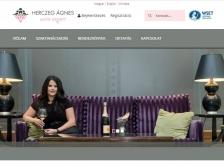 Herczeg Ágnes Wine School (http://herczegagnes.com) - tablet nézet (fekvő)