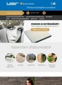 LEIER - Kaiserstein (https://kaiserstein.leier.hu) - tablet nézet (álló)