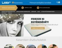 LEIER - Kaiserstein (https://kaiserstein.leier.hu) - tablet nézet (fekvő)