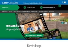 LEIER Kertshop (https://kertshop.leier.hu) - tablet nézet (fekvő)