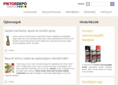 Piktor Depo Kft. (https://www.piktordepo.hu) - tablet nézet (fekvő)