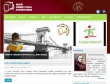 Széchenyi István Általános Iskola - Gönyű  (http://szechenyigonyu.hu) - tablet nézet (fekvő)