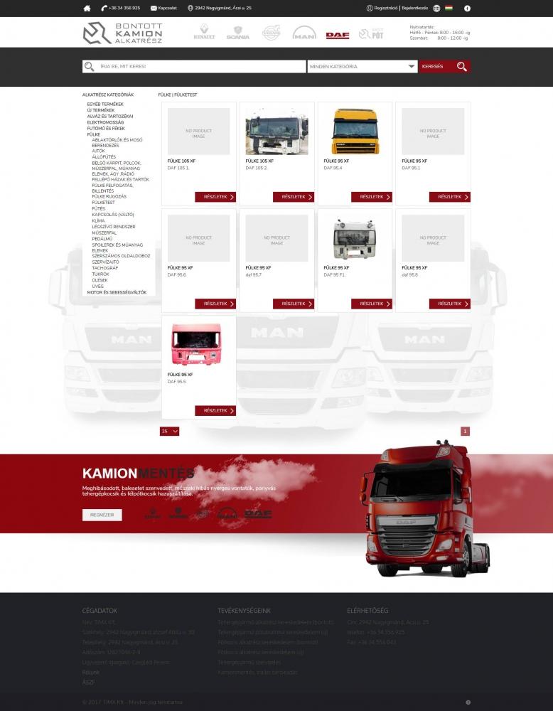9af435faa9 Bontott DAF (TIMX Kft.) (http://bontottdaf.hu) - webshop