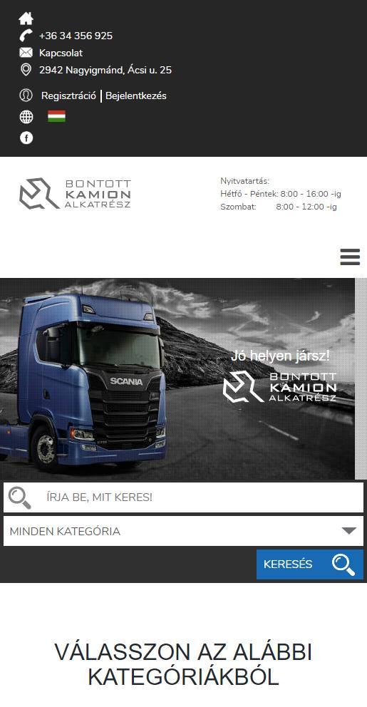 f9aaa97c8a Bontott SCANIA (TIMX Kft.) (http://bontottscania.hu) - mobil nézet