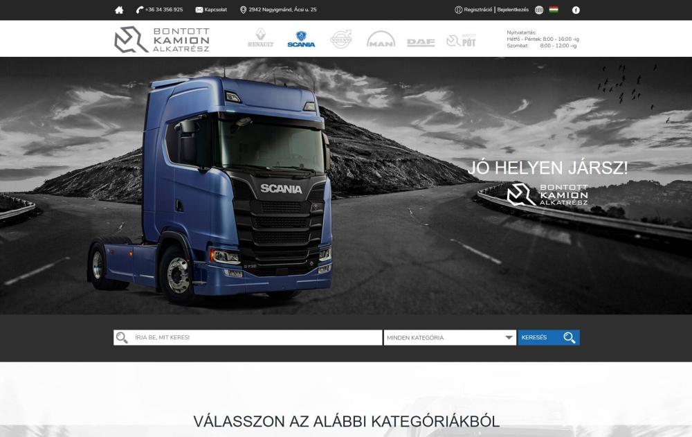 8e5ed88053 Bontott SCANIA (TIMX Kft.) (http://bontottscania.hu) - monitor nézet