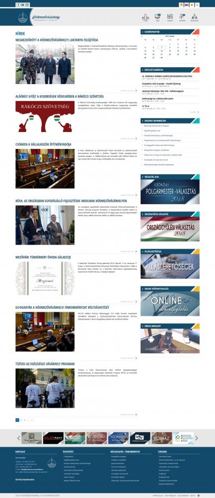 Hódmezővásárhely város honlapja (https://www.hodmezovasarhely.hu) - multisite hírblog
