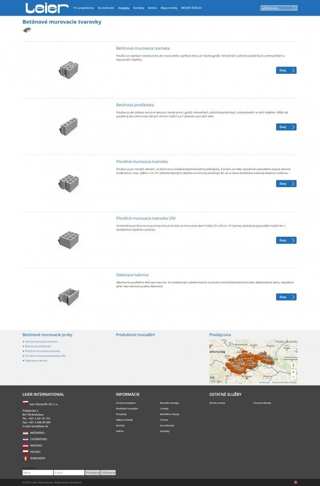 LEIER (szlovákia) (http://www.leier.sk) - terméklap