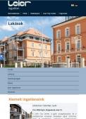 Leier Ingatlan (http://www.leieringatlan.hu) - tablet nézet (álló)