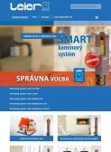 LEIER kéményshop (szlovákia) (http://kominy.leier.sk) - tablet nézet (álló)