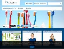 Sager Dental (Sager Pharma) (https://www.sagerdental.hu) - tablet nézet (fekvő)
